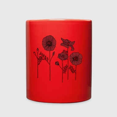 Poppy flowers - Full Color Mug