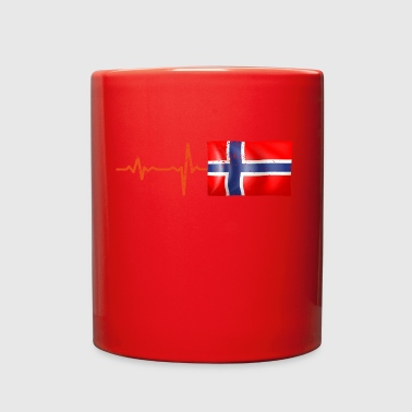 Heartbeat Norway flag gift - Full Color Mug