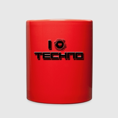 I LOVE TECHNO - Full Color Mug