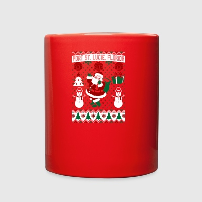 Christmas Ugly Sweater Port St Lucie Florida - Full Color Mug