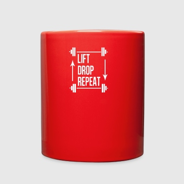 Lift Drop Repeat - Full Color Mug