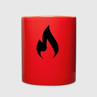 rock hard rebellion flame - Full Color Mug