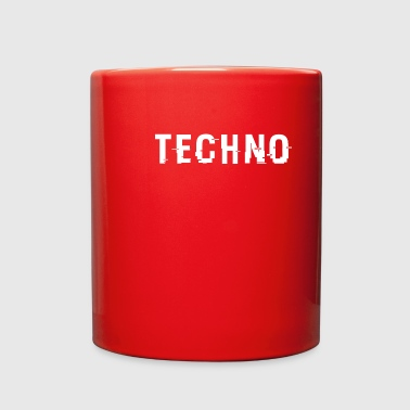 Techno Hacked White - Full Color Mug