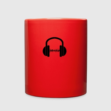 Headphone wave - Full Color Mug