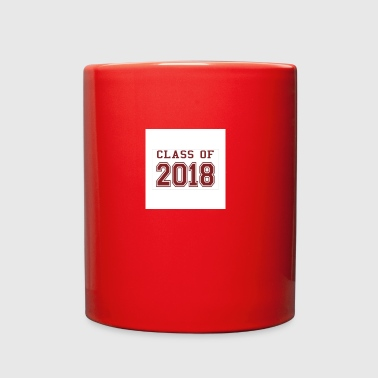 class of 2018 red sticker rectangle - Full Color Mug