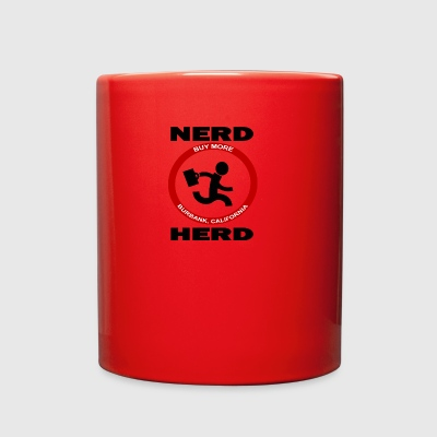 Chuck Nerd Herd Funny Geek Dork - Full Color Mug