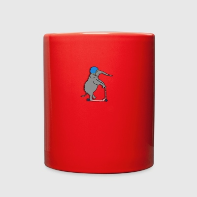 Elephant on Scooter - Full Color Mug