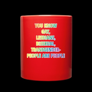 All People are People - LGBT Shirt - Gay Pride - Full Color Mug