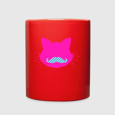 Cat Head pink - Bavaria Beard - Full Color Mug