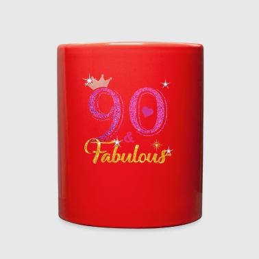 90 Fabulous Queen Shirt 90th Birthday Gifts - Full Color Mug