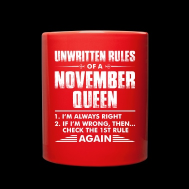 Unwritten Rules Of A November Queen - Full Color Mug