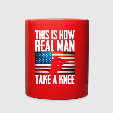 This is How Real Man Take a Knee - Full Color Mug