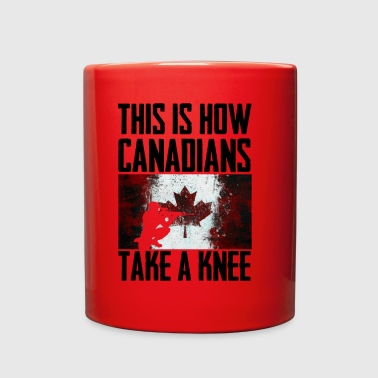 This is How canadians Take a Knee - Full Color Mug