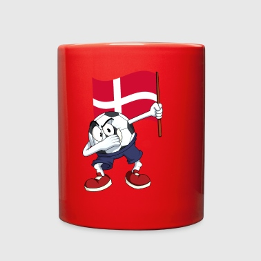 Denmark Dabbing Soccer Ball - Full Color Mug