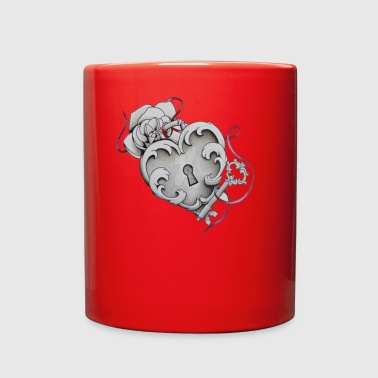 Love heart lock and key - Full Color Mug