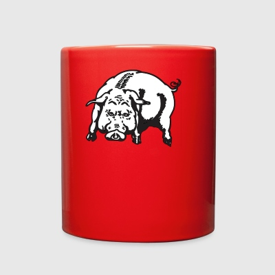Angry Pig Animal Hog Piggy Mammal 45976 - Full Color Mug