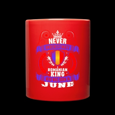 Never Underestimate A Romanian June King - Full Color Mug