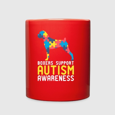 Boxers Support Autism Awareness - Full Color Mug