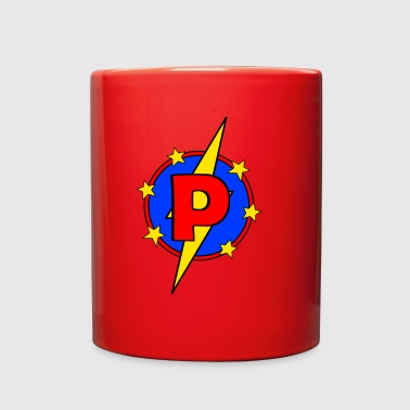 My Little Super Hero Kids & Baby Letter P - Full Color Mug