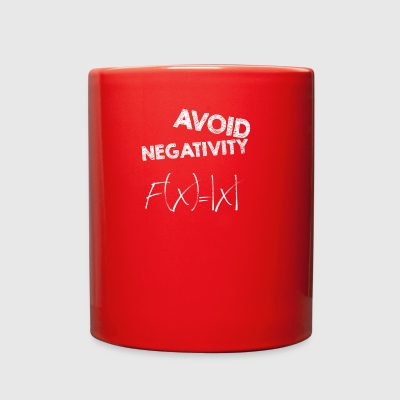 avoid negativity - Full Color Mug