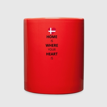 Geschenk Heart is home denmark daenemark - Full Color Mug