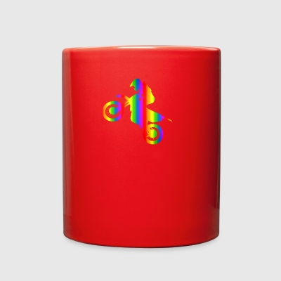 Colorful Motocross Rainbow - Full Color Mug