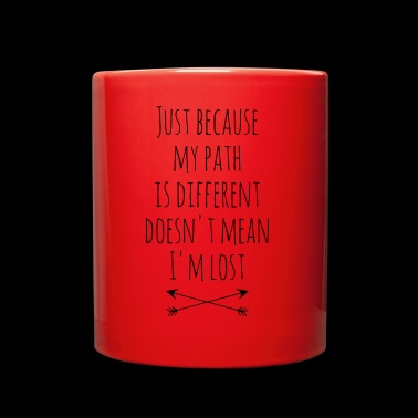 I'm different not lost | Wanderlust Travel Quote - Full Color Mug