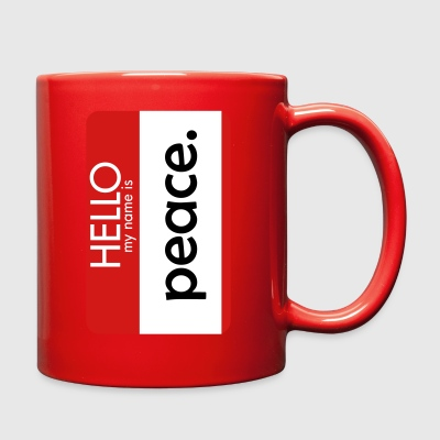 HELLO my name is peace - Full Color Mug