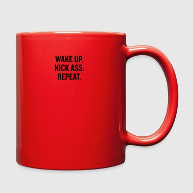 Wake Up Kick Ass Black - Full Color Mug