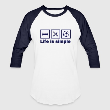 lifeissimple_football - Baseball T-Shirt