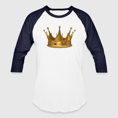 Artify Crown Of King by Artify - Baseball T-Shirt