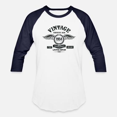 1958 Aged To Vintage Perfectly Aged 1958 - Baseball T-Shirt