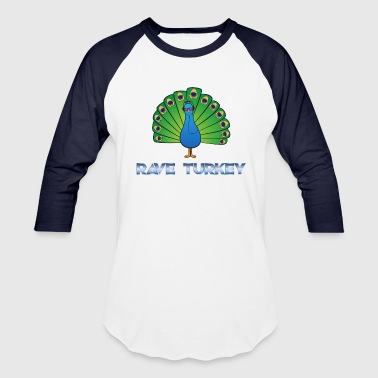 Reggae Techno Electro Headphone Party Peacock Rave Turkey Gift - Baseball T-Shirt