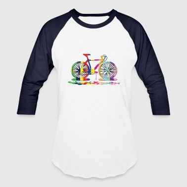 Cycling rainbow bicycle - Baseball T-Shirt
