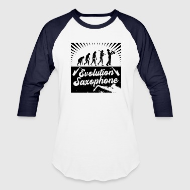 Evolution Saxophone - Baseball T-Shirt