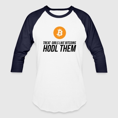 Bitcoin Girls - Baseball T-Shirt