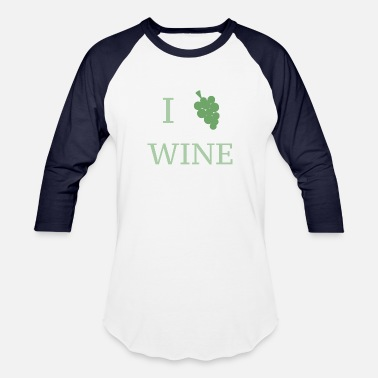 Wine Festival I love wine I grape wine Wine Lovers Festival - Baseball T-Shirt