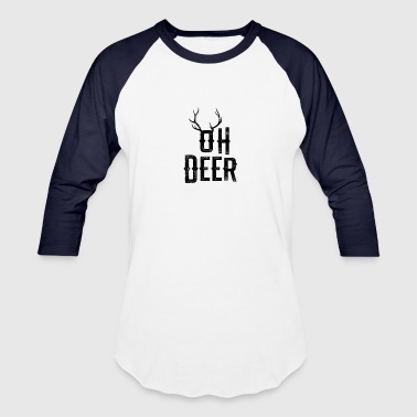 Oh Oh Deer Christmas Winter Shirt Gift - Baseball T-Shirt