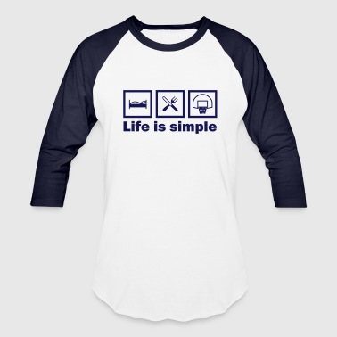 lifeissimple_basketball - Baseball T-Shirt