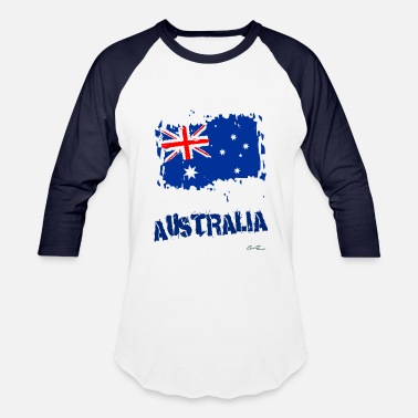 Flag Of Australia Australia Flag - Baseball T-Shirt