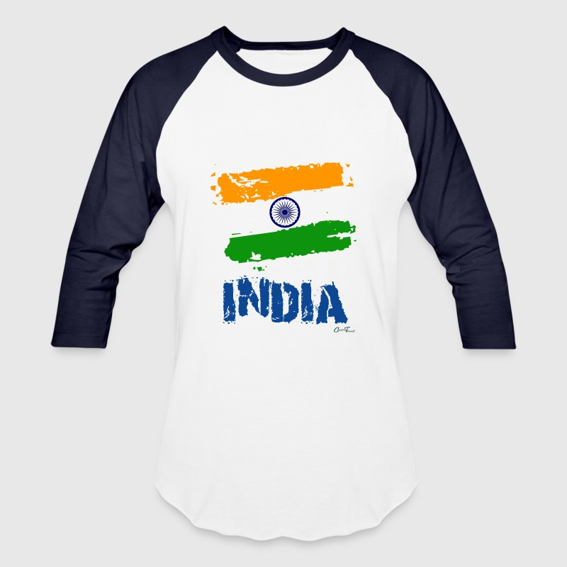 India Flag - Baseball T-Shirt