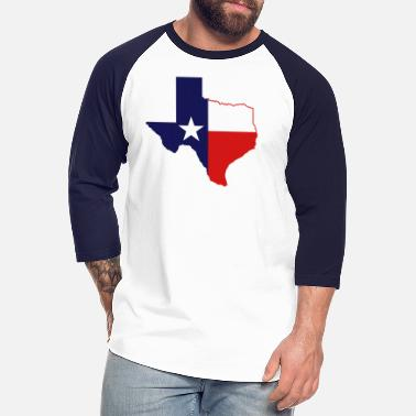 State Border texas state border - Unisex Baseball T-Shirt