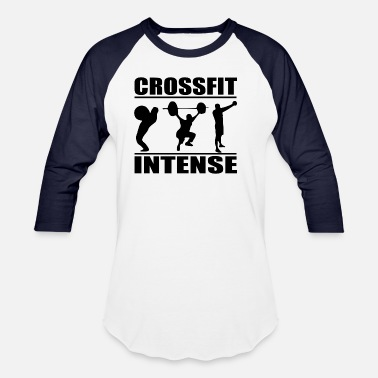 Crossfit Geek Cool Crossfit Intense - Baseball T-Shirt