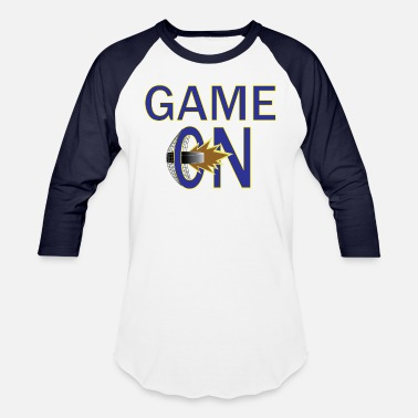 05e646771ced Game On (Blue Yellow) - Unisex Baseball T-Shirt