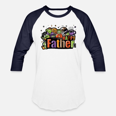 Happy Father's Day Tag Gift - Unisex Baseball T-Shirt
