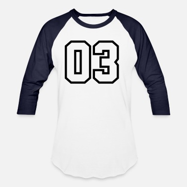 Jersey Number 03 , Number, Sports, Jersey, Team, Varsity - Unisex Baseball T-Shirt