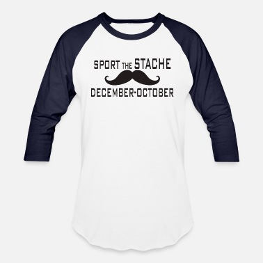 Stach Sport The Stache - Unisex Baseball T-Shirt