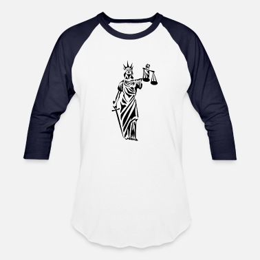 Mythology Justitia - Baseball T-Shirt