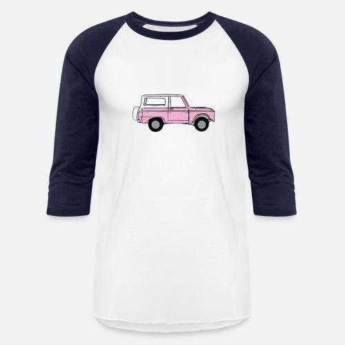 Vintage Pink Ford Bronco Design Unisex Baseball T-Shirt  33fb72db0