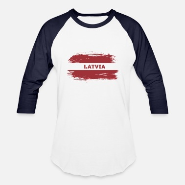 Latvija Latvia Flag / Gift National Flag Baltic States - Unisex Baseball T-Shirt
